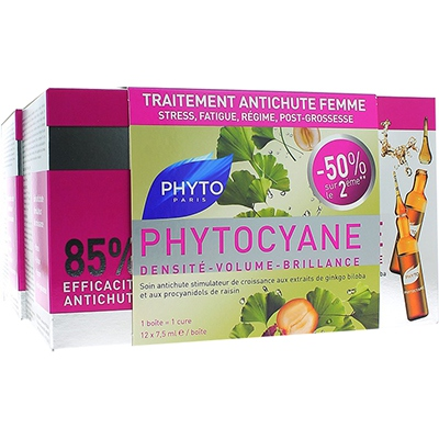 PHYTO Phytocyane Traitement Anti-chute - Lot de 2
