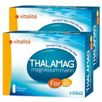 THALAMAG Fer Vitamine B9 - Lot de 2