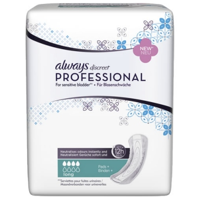 ALWAYS Discreet Professional Serviettes+ Long