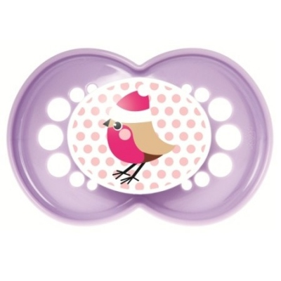 MAM Sucette Silicone +6Mois Rouge-gorge