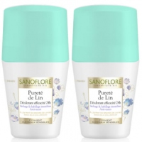 SANOFLORE Pureté de Lin Déodorant Roll-on - Lot de 2