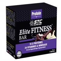 STC NUTRITION Elite Fitness Bar Chocolat x5
