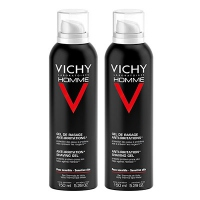 VICHY Homme Gel de Rasage Anti-irritations - Lot de 2