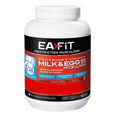EAFIT Milk & Egg 95 Micellaire Vanille - Format ECO