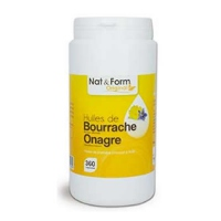 NAT & FORM Original Huiles Bourrache Onagre - 360 capsules