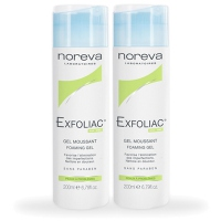 NOREVA Exfoliac Gel Moussant - Lot de 2