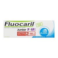 FLUOCARIL JUNIOR Dentifrice Bubble - Lot de 2 x 50ml