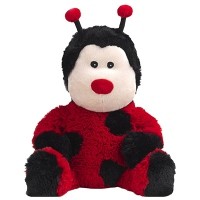 SOFRAMAR Bouillotte Peluche Coccinelle Rouge
