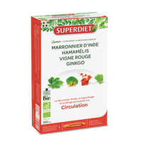 SUPER DIET Quatuor Circulation Bio - 20 ampoules