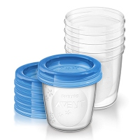 AVENT 5 Pots de Conservation de 180ml