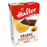 HALTER Bonbons Orange Chocolat Sans Sucre