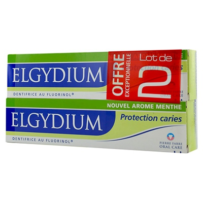 ELGYDIUM Protection Caries Dentifrice - Lot de 2 x 75ml