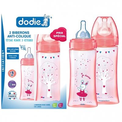 DODIE Biberon Evolution+ Rose Lot de 2x330ml