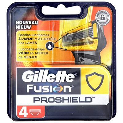 GILLETTE Fusion Proshield Recharges x4