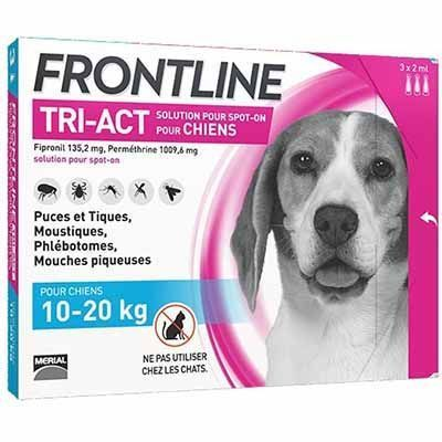 FRONTLINE Tri-act Chiens 10-20kg - 6 pipettes