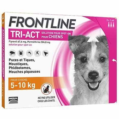 FRONTLINE Tri-act Chiens 5-10kg - 6 pipettes