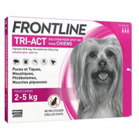 FRONTLINE Tri-act Chiens 2-5kg - 3 pipettes