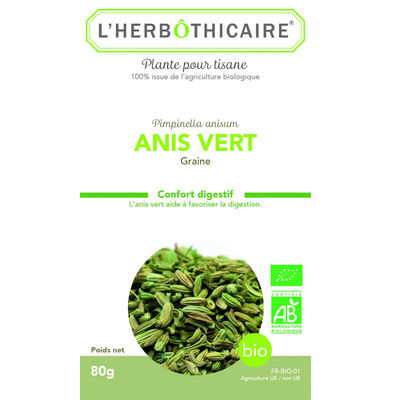 L'HERBOTHICAIRE Anis Vert Bio 80g
