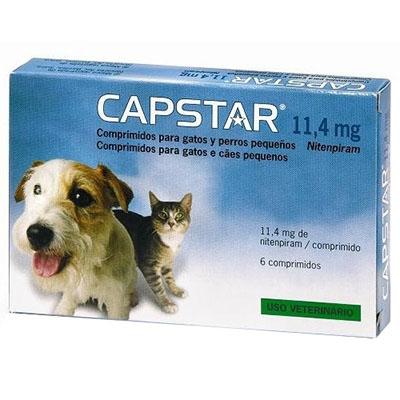 CAPSTAR 11,4mg Chats et Petits Chiens