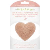 The Konjac Sponge Co Eponge Visage Argile Rose Coeur