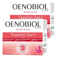 OENOBIOL TopSlim 3 en 1 Framboise - Lot de 2 x 14 sticks