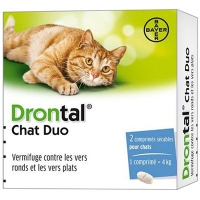 DRONTAL Chat Duo Vermifuge - 2 comprimés