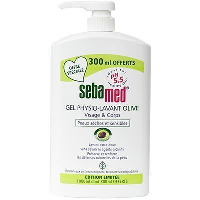 SEBAMED Gel Physio-Lavant Olive 1L dont 300ml OFFERTS