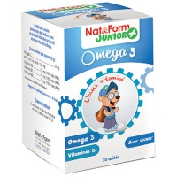 NAT & FORM Junior+ Oméga 3 - 30 gommes