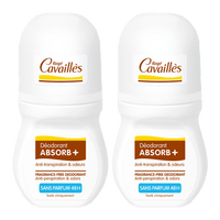 ROGE CAVAILLES Déodorant Absorb+ Sans Parfum 48h Roll-on 2x50ml