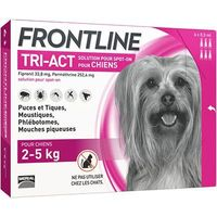 FRONTLINE Tri-act Chiens 2-5kg - 6 pipettes