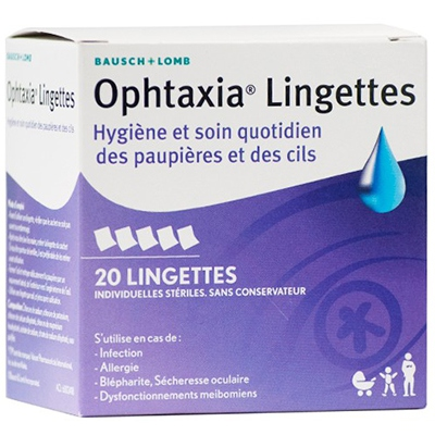 BAUSCH + LOMB Ophtaxia Lingettes x20