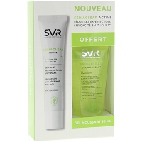 SVR Sebiaclear Active 40ml + Sebiaclear Gel moussant 50ml Offert
