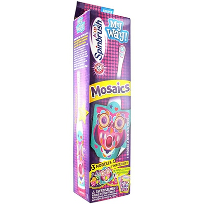 SPINBRUSH Mosaics Kids My Way Brosse à dents enfants