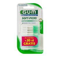 GUM 632 Soft-picks Bâtonnet Interdentaire Fluoré Regular x40