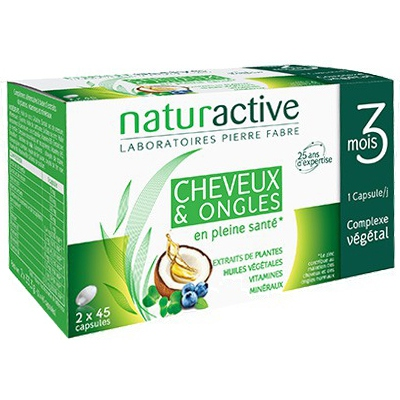 NATURACTIVE Capillaire cheveux et ongles - 2x45 Capsules
