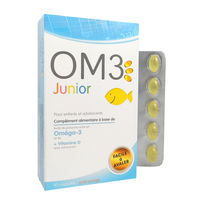 OM3 Junior Oméga 3 Enfants et Adolescents - 60 capsules
