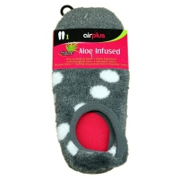 AIRPLUS Spa Footies à l'Aloe Vera - Gris à pois blanc