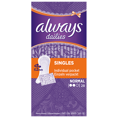 ALWAYS Dailies Singles Normal - 28 pochettes individuelles
