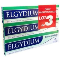 ELGYDIUM Gel Dentifrice Dents Sensibles 3 x 75 ml