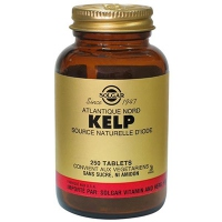 SOLGAR Kelp Source naturelle d'iode - 250 Tablettes