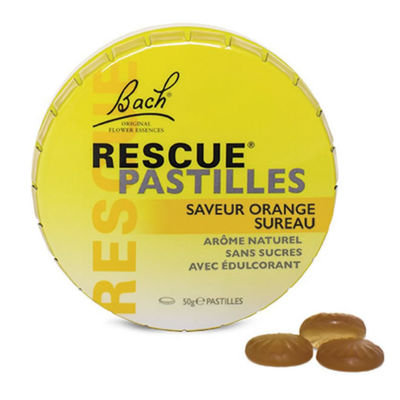 BACH RESCUE Pastilles Saveur Orange Sureau 50g