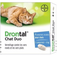DRONTAL Chat Duo Vermifuge - 4 comprimés