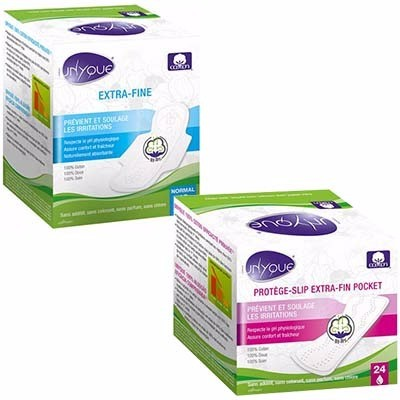 UNYQUE Serviettes Extra-fines Normal x10 + Protèges-slip Extra-fin Pocket x24