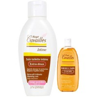 ROGE CAVAILLES Soin Intime Extra-doux 500ml + Huile Bain Douche Veloutante 75ml