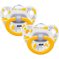 NUK 2 Sucettes Silicone Classic Mixte Taille 2 +6mois