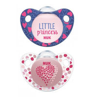 NUK 2 Sucettes Silicone Trendline Fille Taille 2 +6mois