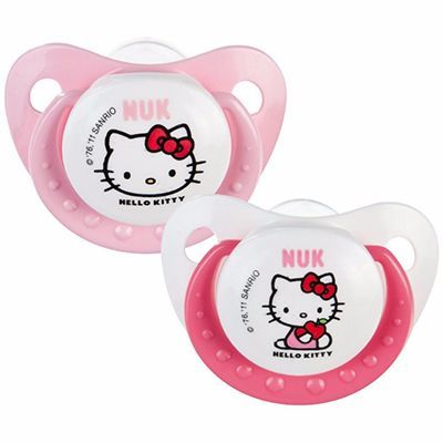 NUK 2 Sucettes Silicone Trendline Hello Kitty Taille 2 +6mois