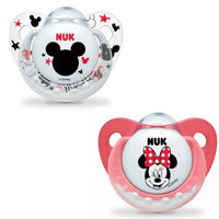 NUK 2 Sucettes Silicone Trendline Minnie Taille 2 +6mois
