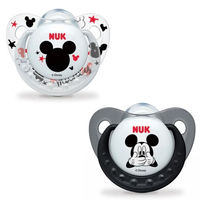NUK 2 Sucettes Silicone Trendline Mickey Taille 2 +6mois