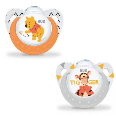 NUK 2 Sucettes Silicone Trendline Winnie Taille 1 0-6mois